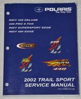2002 POLARIS TRAIL SPORT INDY 340 500 440 PRO X Snowmobile Shop Service Manual 9545