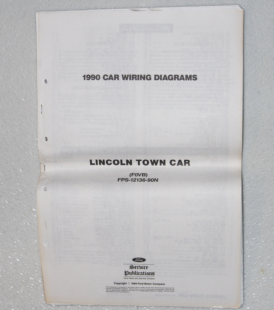 Lincoln town car electrical wiring diagrams original