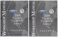 2009 Ford Taurus, Taurus X & Mercury Sable Factory Service Manual 2 Volume Set