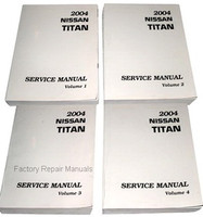 2004 Nissan Titan Factory Service Manual - Complete 4 Volume Set