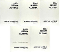 2006 Nissan Altima Factory Service Manual