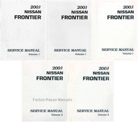 2003 Nissan Frontier Factory Service Manual - Complete 5 Volume Set