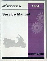 1984 HONDA AERO 125 Scooter Factory Service Manual NH125 Dealer Shop Repair