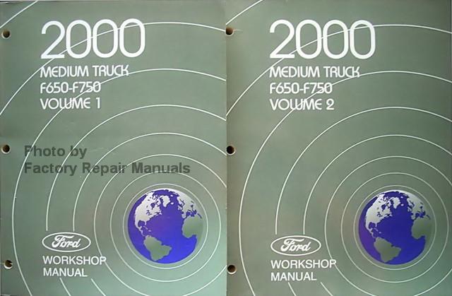 2000 ford f650 f750 truck factory service manual set. Black Bedroom Furniture Sets. Home Design Ideas