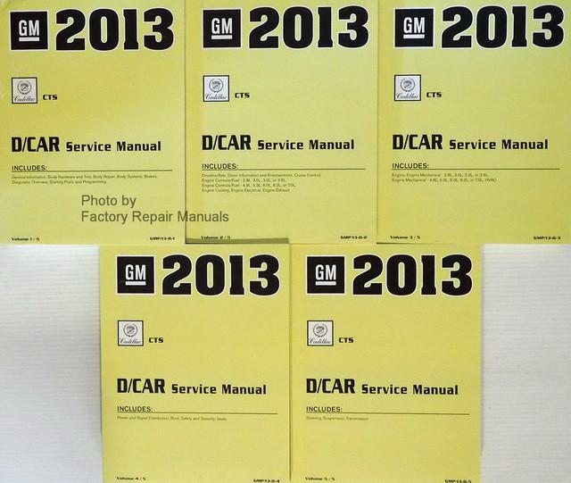 2013 Cadillac CTS & CTS-V Factory Shop Service Repair Manual 5 Volume Set - Factory Repair Manuals