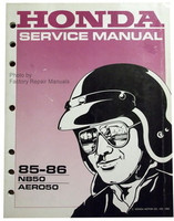 1985 1986 HONDA AERO 50 Scooter Factory Service Manual NB50 Moped Shop Repair
