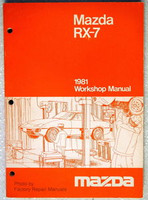 1981 Mazda RX-7 Factory Service Manual - RX7 Original Shop Service Repair RARE