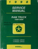 1998 Dodge Ram Truck Factory Service Manual 1500 2500 3500 Original Shop Repair