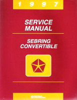 1997 Chrysler Sebring Convertible Factory Service Manual - Original Shop Repair