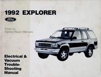 1992 Ford Explorer Electrical & Vacuum Troubleshooting Manual Original Shop EVTM