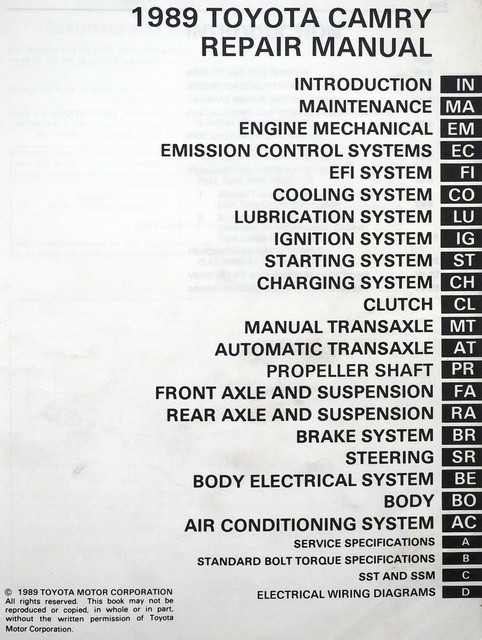 toyota factory service manual pdf