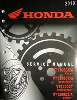2010 HONDA VT1300 CX/CR/CT/CS Factory Service Manual - Original Shop Repair