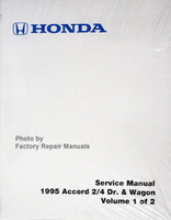 Honda Service Manual 1995 Accord 2/4 Dr. & Wagon Volumes 1, 2