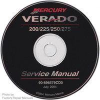 Mercury Verado Four-Stroke 200 225 250 275 Outboard Service Manual CD-ROM