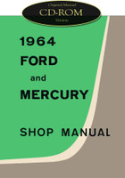 1964 Ford Custom Galaxie 500 XL Mercury Monterey Parklane Shop Service Manual CD