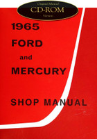 1965 Ford Custom Galaxie 500 XL Mercury Monterey Parklane Shop Service Manual CD