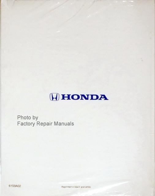 2002 2004 honda cr v factory shop service manual reprint. Black Bedroom Furniture Sets. Home Design Ideas