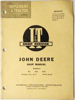 John Deere Model 80 820 830 Tractor I & T Shop Manual #JD-17 Service Repair 1960