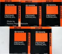 2010 Toyota 4Runner Repair Manual Volume 1, 2, 3, 4, 5