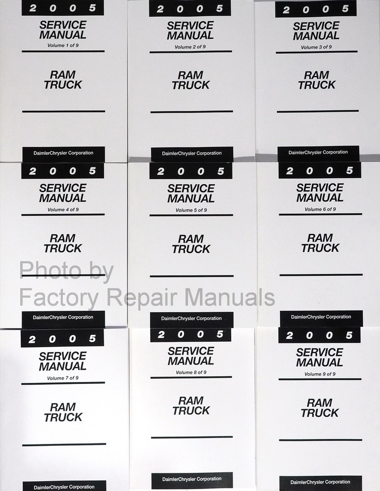 2005 dodge ram truck factory service manual set 1500 2500. Black Bedroom Furniture Sets. Home Design Ideas