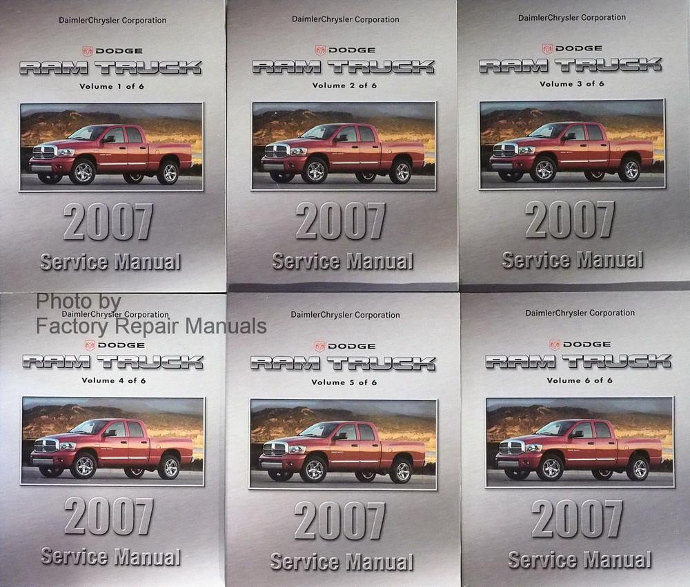 2007 dodge ram truck factory service manual set 1500. Black Bedroom Furniture Sets. Home Design Ideas