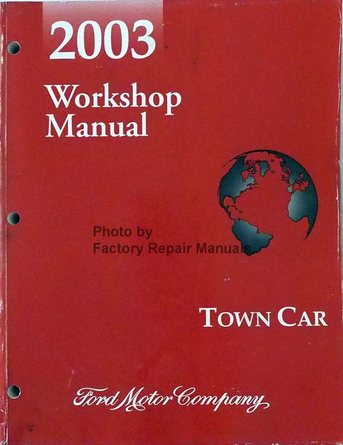 2003 lincoln town car factory service manual original shop. Black Bedroom Furniture Sets. Home Design Ideas