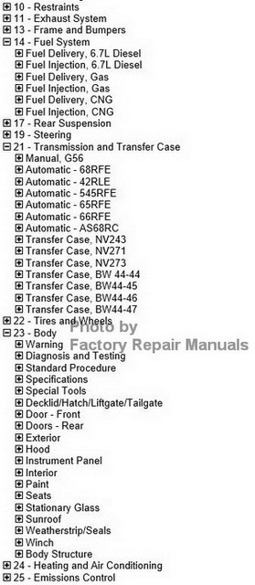 2012 Dodge RAM Truck Factory Service Manual CD-ROM