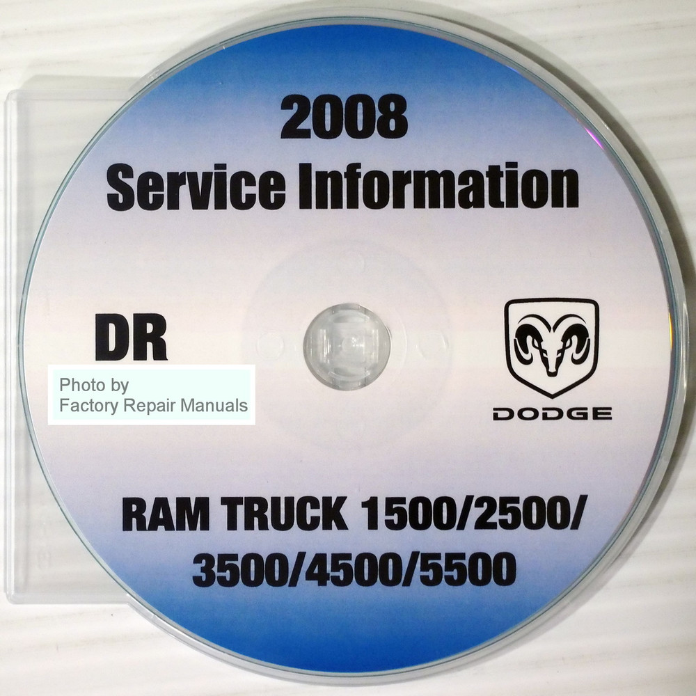 2008 dodge ram truck 1500 2500 3500 4500 5500 factory. Black Bedroom Furniture Sets. Home Design Ideas