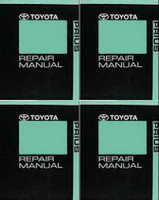 2010 Toyota Prius Repair Manual Volume 1, 2, 3, 4