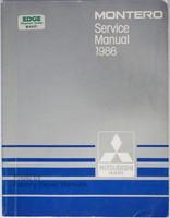 1986 Mitsubishi Montero Factory Service Manual Original Shop Repair