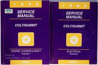 1996 Dodge Plymouth Colt Eagle Summit Factory Service Manual Set OEM Shop Repair