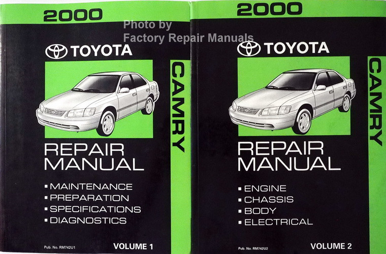 2000 toyota camry factory service manual 2 volume set original shop repair factory repair manuals. Black Bedroom Furniture Sets. Home Design Ideas