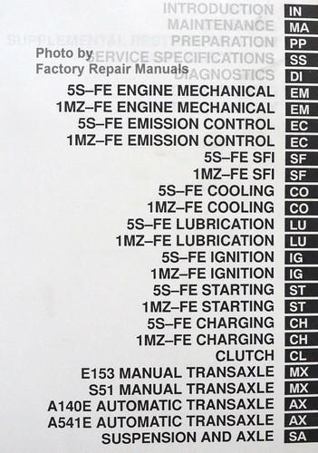 2000 toyota camry factory service manual 2 volume set 2000 camry repair manual pdf Camry Manual Transmission