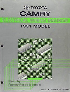 1991 toyota camry electrical wiring diagrams original. Black Bedroom Furniture Sets. Home Design Ideas