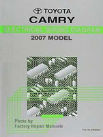 2007 Toyota Camry Electrical Wiring Diagrams - Original Factory Manual