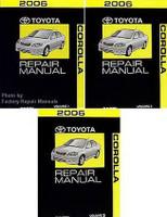 2006 Toyota Corolla Repair Manuals