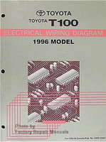 1996 Toyota T100 Truck Electrical Wiring Diagrams Original
