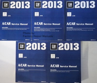 2013 Cadillac ATS GM A/Car Service Manual Volume 1, 2, 3, 4, 5