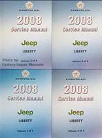 2008 Jeep Liberty Factory Service Manual 4 Volume Set - Original Shop Repair