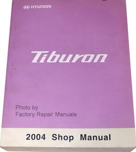 2004 hyundai tiburon factory service manual original. Black Bedroom Furniture Sets. Home Design Ideas