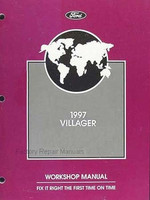 1997 Mercury Villager Factory Service Manual - Original Shop Repair