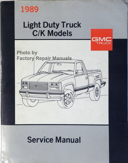 1989 gmc sierra c  k truck factory service manual original free gmc factory service manuals gmc factory service manual pdf