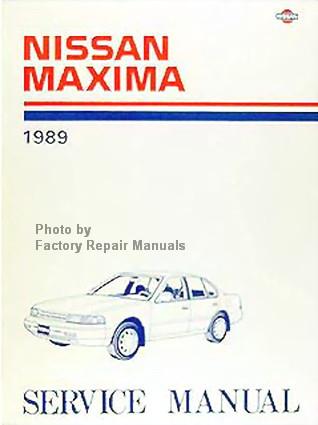 1989 nissan maxima factory service manual original shop 2012 Nissan Rogue Factory Service Manual 2006 Nissan Maxima Service Manual