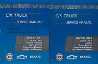 1997 Chevy GMC Pick-up Truck Tahoe Suburban Yukon Factory Shop Service Manual Set