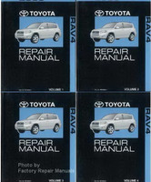 2008 Toyota RAV4 Factory Repair Manual Set - Original Shop Service