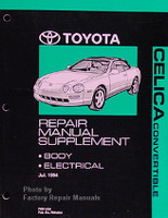 1995-1999 Toyota Celica Convertible Repair Manual Supplement Original