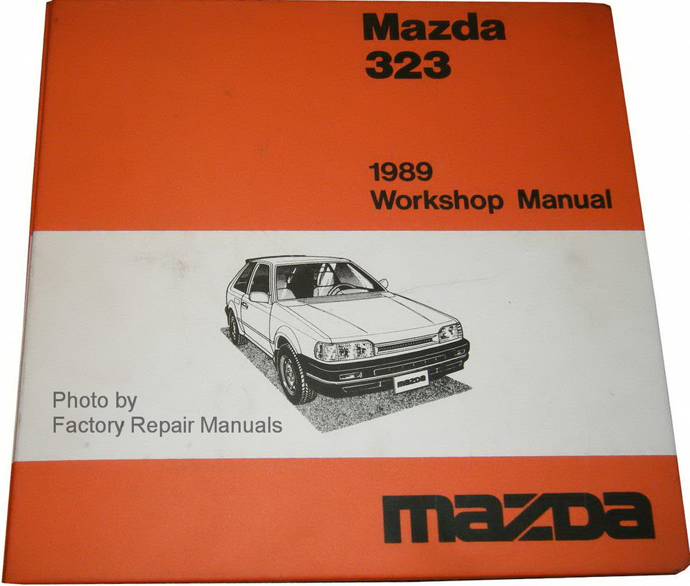 1989 Mazda 323 Factory Shop Manual  U0026 Wiring Diagrams Original Repair