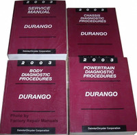 2003 Dodge Durango Factory Service & Diagnostic Manuals Original Shop Repair