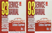 1993 Oldsmobile Cutlass Supreme Service Manuals