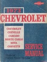 1973 Chevrolet Camaro, Corvette, Monte Carlo, Nova, Chevelle Factory Service Manual